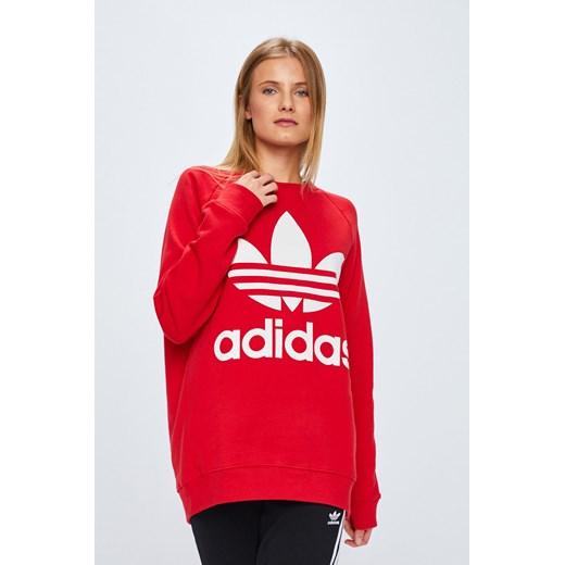 adidas bluza czerwona damska