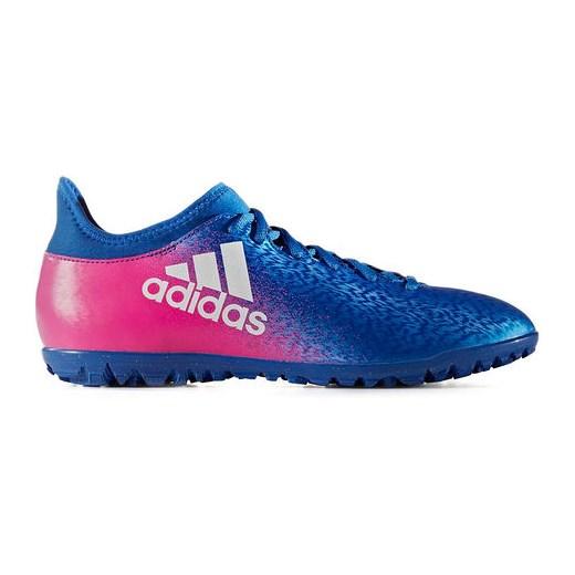 Buty piłkarskie turfy X 16.3 Primemesh TF Adidas (niebiesko różowe) SPORT SHOP.pl