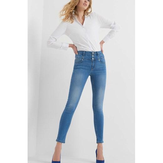 Jeansy skinny z wysokim stanem ORSAY