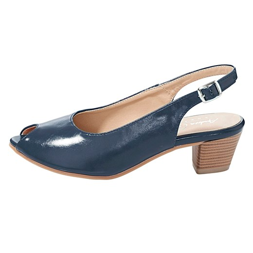 Andrea Conti sandały damskie eleganckie z gumy z klamrą na