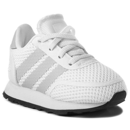 Białe buciki niemowlęce Adidas bez zapięcia
