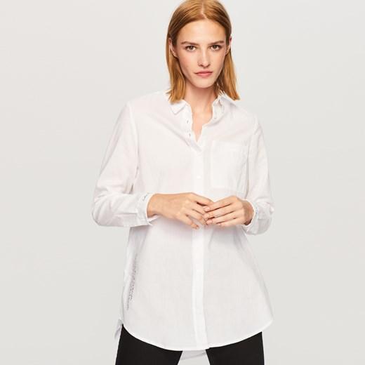Reserved Oversize'owa koszula z napisami Biały w Domodi  zJyo3
