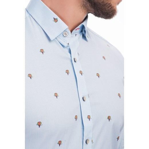 Koszula męska Franco Feruzzi biała z klasycznym  aYc5p