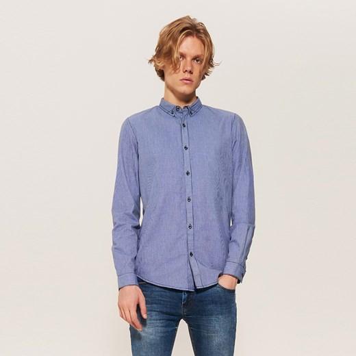 Koszula damska niebieska House bez kołnierzyka w Domodi