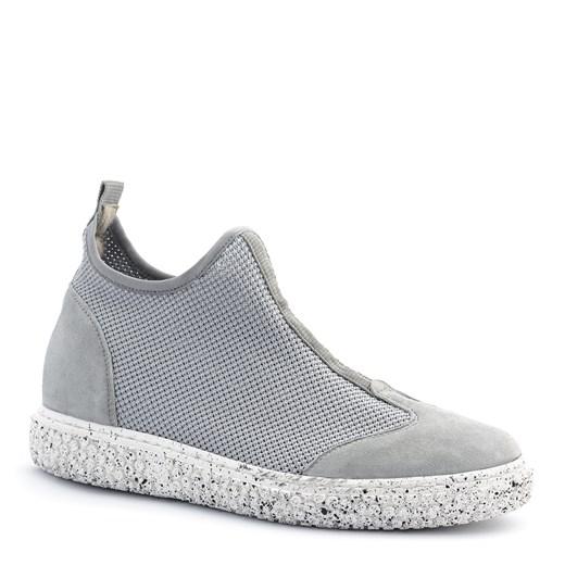 Sneakersy damskie Neścior sportowe bez wzorów skórzane w Domodi