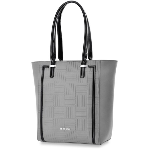Szara shopper bag Monnari