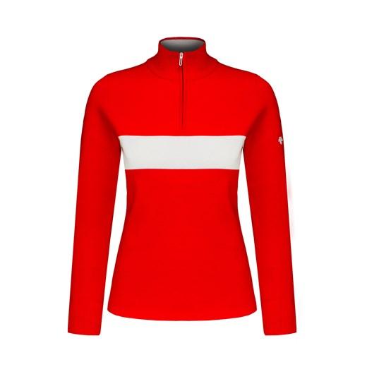 Sweter DESCENTE MIRIAM okazja S'portofino Odzież Damska MS czerwony WRXA