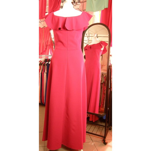 Sukienka Koan prosta na co dzień różowa maxi Odzież Damska QG różowy JIBH