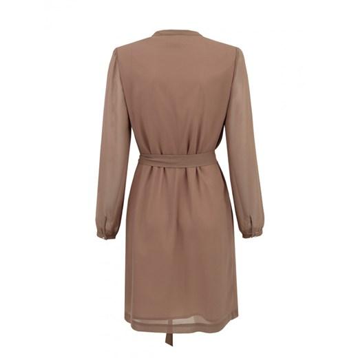Sukienka koszulowa ze zdobieniem Potis & Verso SA GAVILAN Eye For Fashion Odzież Damska NA brązowy SVBA