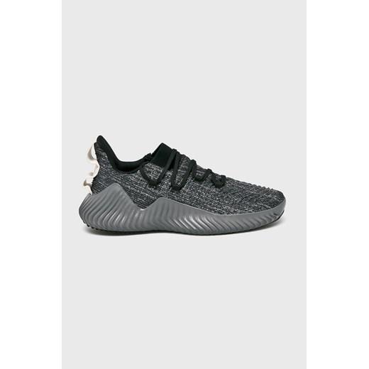 Szare buty sportowe męskie Adidas Performance alphabounce sznurowane