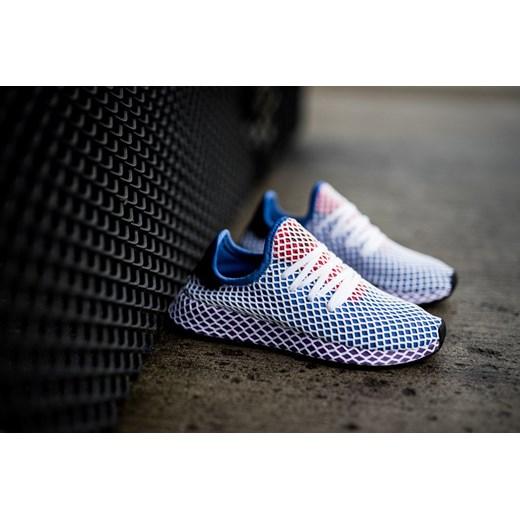 Adidas Originals buty sportowe damskie do biegania niebieskie bez wzorów na płaskiej podeszwie