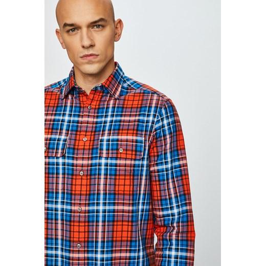 Koszula męska Calvin Klein w kratkę wielokolorowa casual z  9cXuG
