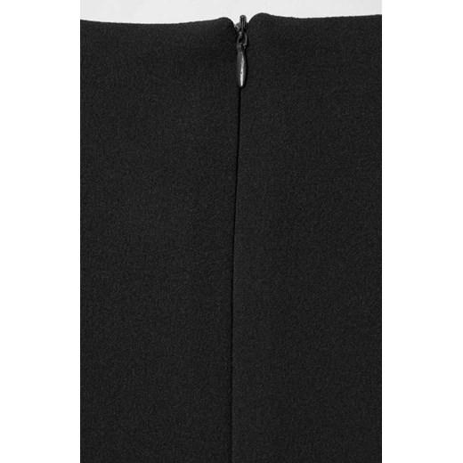 Sukienka wyszczuplająca midi z krótkimi rękawami z okrągłym dekoltem biznesowa Odzież Damska GL czarny YBFD