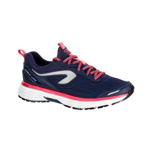 Buty sportowe damskie Kalenji do biegania z gumy płaskie bez wzorów granatowe sznurowane