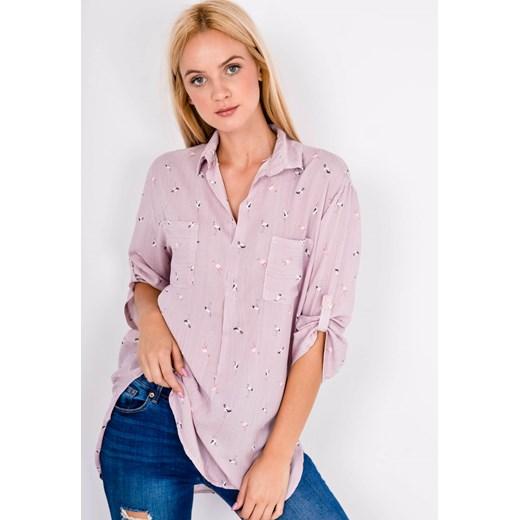 Koszula damska Zoio w abstrakcyjnym wzorze z długimi  NmD6e