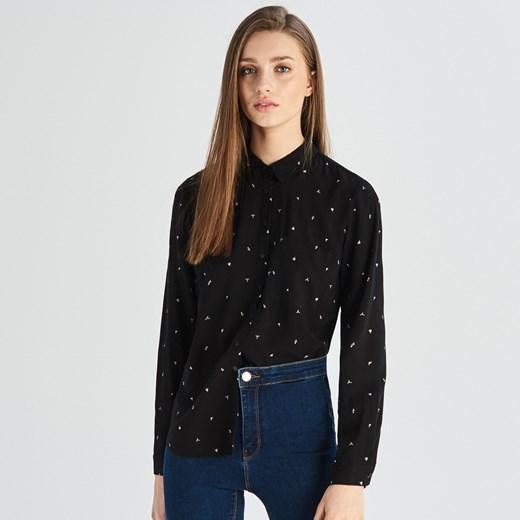 Koszula damska czarna Sinsay w Domodi  sQK8i