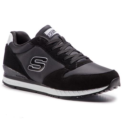 Granatowe buty sportowe męskie Skechers skórzane w Domodi
