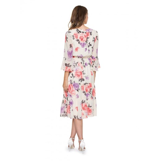 Sukienka L'af na spacer z szyfonu z długim rękawem Odzież Damska HA wielokolorowy UJFV