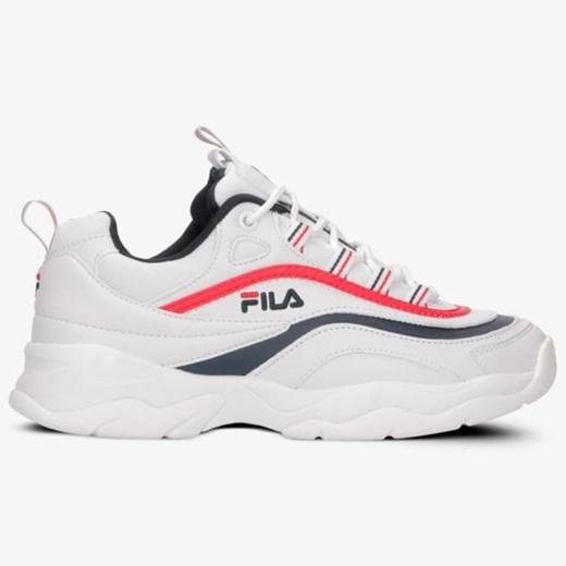 Fila buty sportowe damskie do fitnessu białe na płaskiej podeszwie na wiosnę