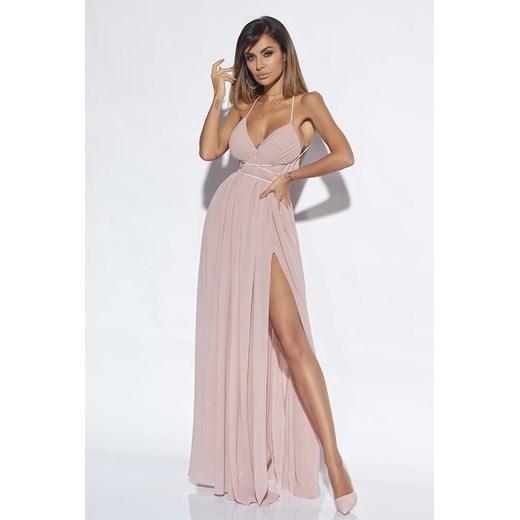 Sukienka Lou balowe maxi prosta na ramiączkach w Domodi