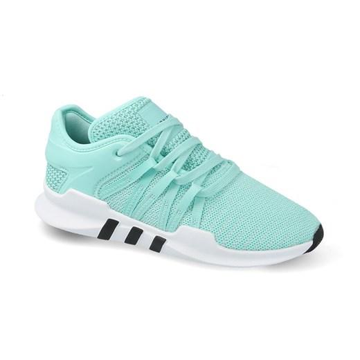 Buty sportowe damskie Adidas Originals eqt support niebieskie sznurowane skórzane