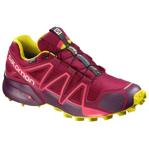 Salomon buty sportowe damskie do biegania speedcross bez wzorów sznurowane skórzane