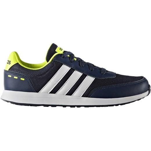 Niebieskie buty sportowe damskie Adidas Performance sneakersy z nubuku bez wzorów płaskie