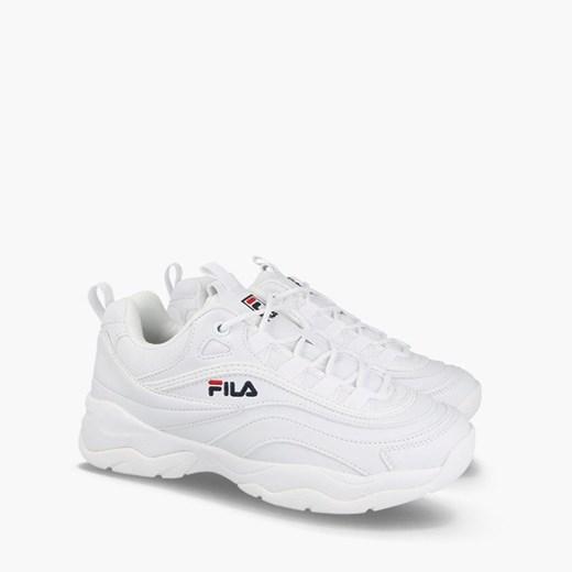 Buty sportowe damskie Fila do fitnessu białe sznurowane