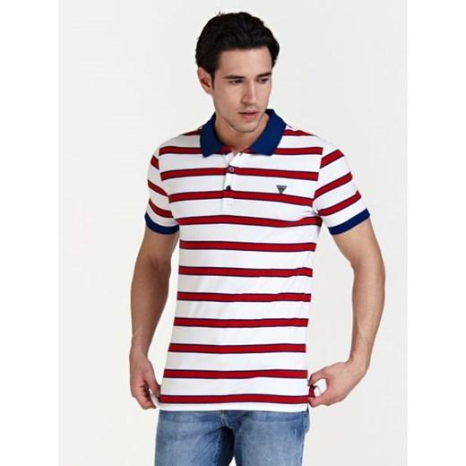 Koszulka Polo W Paski Guess w Domodi  RMHVd