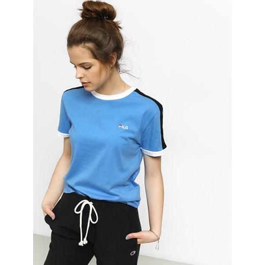 Bluzka sportowa niebieska Fila z haftem na wiosnę w Domodi