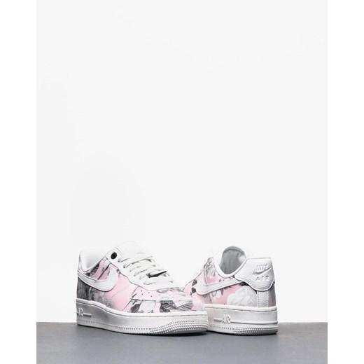 Buty sportowe damskie wielokolorowe Nike do biegania air force skórzane na płaskiej podeszwie sznurowane
