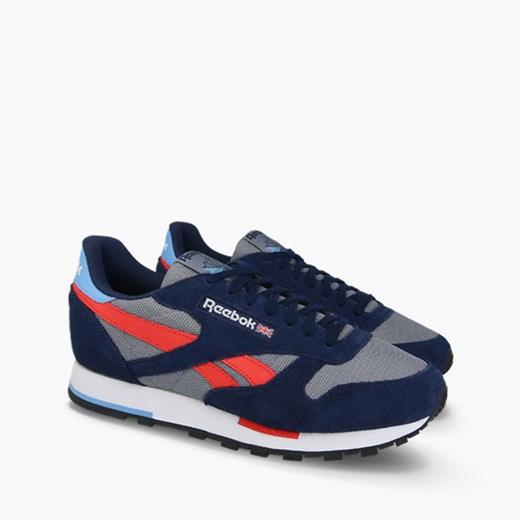 Reebok Classic buty sportowe męskie niebieskie sznurowane skórzane