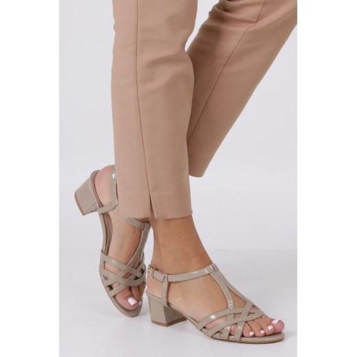 sandały damskie na obcasie domodi