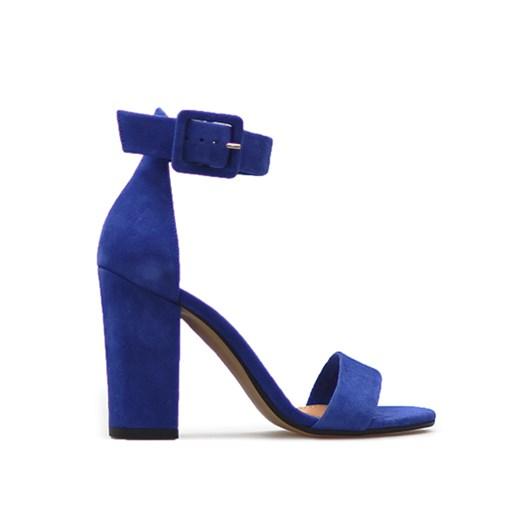 Sandały Szydłowski 1826542 Niebieskie zamsz Arturo obuwie w