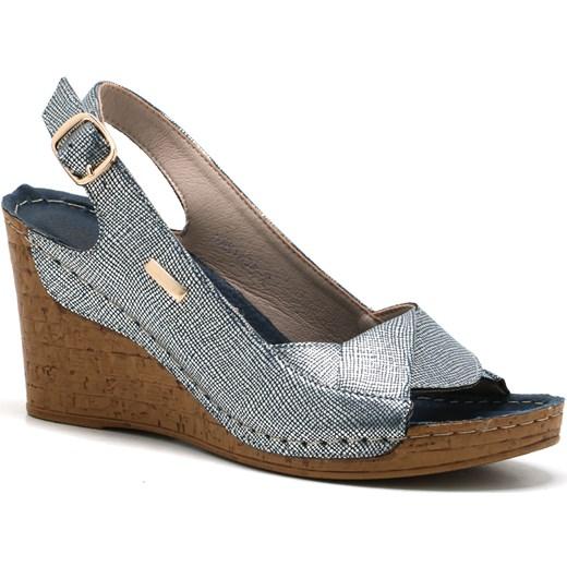 Sandały damskie Butymodne letnie z klamrą eleganckie gładkie