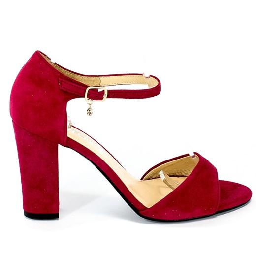 Czerwone sandały damskie Tomex bez wzorów1 eleganckie