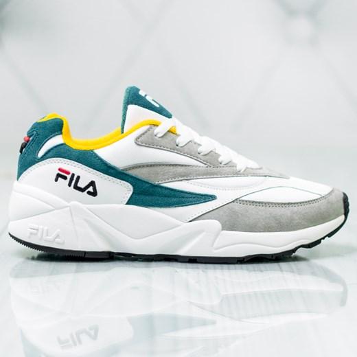 Buty sportowe męskie Fila białe młodzieżowe sznurowane