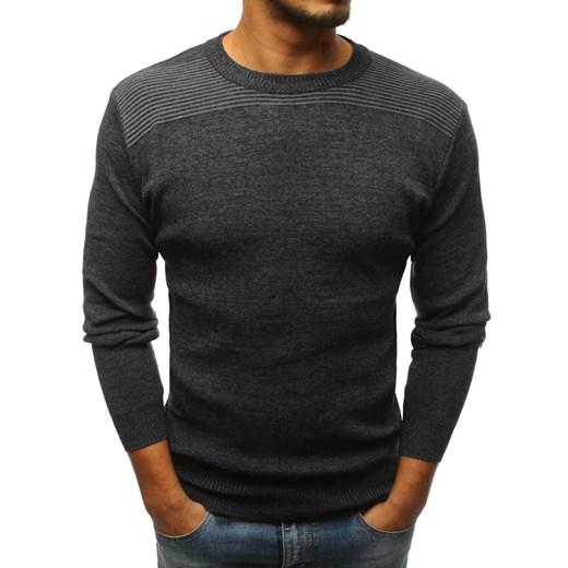 Sweter męski czarny Dstreet