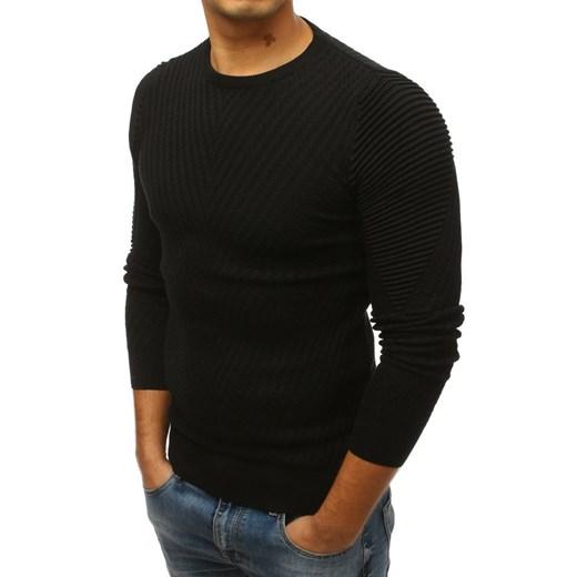 Czarny sweter męski Dstreet gładki 58v27