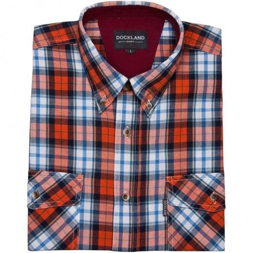 Dockland koszula męska wielokolorowa z kołnierzykiem button  10HNB