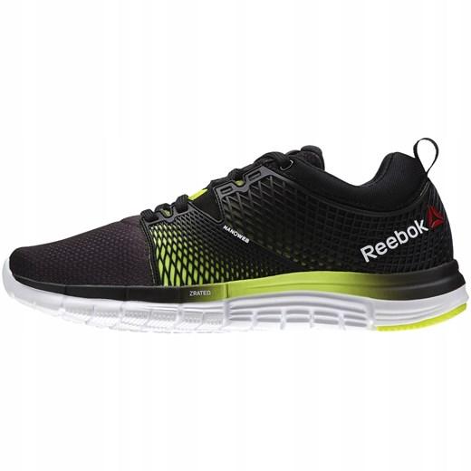 Buty sportowe damskie Reebok do biegania czarne wiązane z zamszu bez wzorów