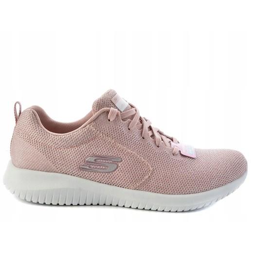 Buty sportowe damskie różowe Skechers nike flex płaskie