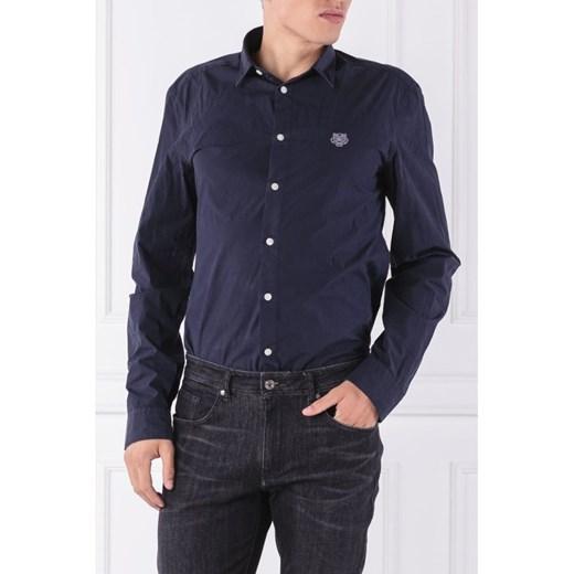Koszula męska niebieska Kenzo z długimi rękawami z  RuvIR