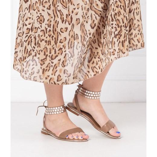 Sandały damskie Liu jo casual bez obcasa skórzane płaskie