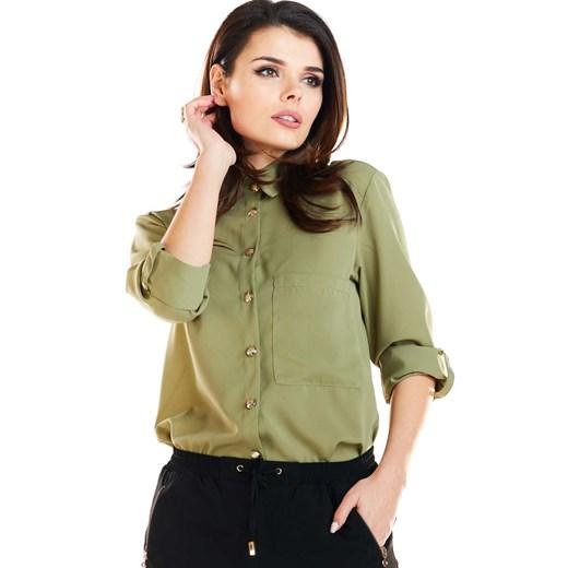 Koszula damska Awama z długim rękawem w Domodi  RdBim