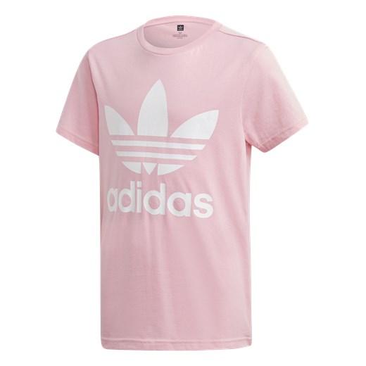 Różowy t shirt chłopięce Adidas Originals z krótkim rękawem