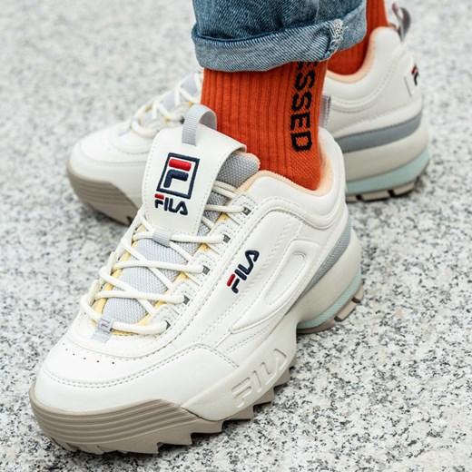 Sneakersy damskie Fila sznurowane bez wzorów w Domodi