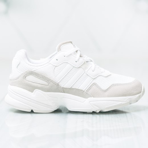 Adidas buty sportowe damskie białe sznurowane na płaskiej podeszwie