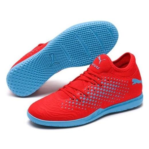 Buty sportowe męskie Puma ze skóry czerwone sznurowane w Domodi