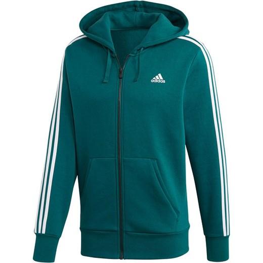 Bluza męska Essentials 3 Stripes Fleece Adidas (zielona
